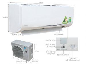 Điều hòa treo tường Daikin FTKC25QVMV/RKC25QVMV Inverter 1 chiều 9000 BTU