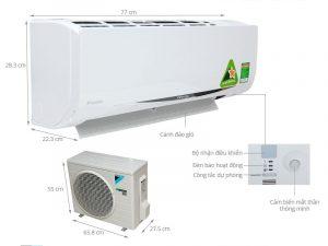 Điều hòa treo tường Daikin FTKC35QVMV/RKC35QVMV Inverter 1 chiều 12000 BTU