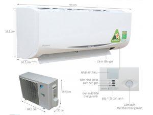Điều hòa treo tường Daikin FTKC50QVMV/RKC50QVMV Inverter 1 chiều 18000 BTU