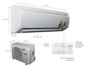 Điều hòa treo tường Daikin FTKS25GVMV/RKS25GVMV Inverter 1 chiều 9000 BTU