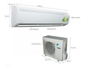 Điều hòa treo tường Daikin FTKS60GVMV/RKS60GVMV Inverter 1 chiều 9000 BTU