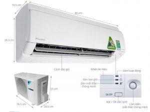 Điều hòa treo tường Daikin FTXS25GVMV/RXS25GVMV Inverter 2 chiều 9000 BTU