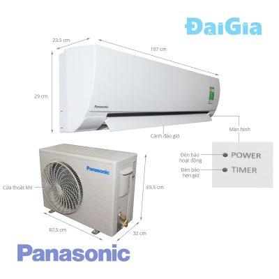 Điều hòa treo tường Panasonic N24TKH-8 1 chiều 24000 BTU