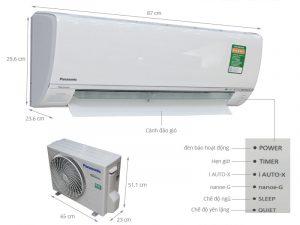 Điều hòa treo tường Panasonic U9SKH-8 Inverter 1 chiều 9000 BTU